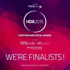 Hertfordshire Digital Awards 2015 finalist poster