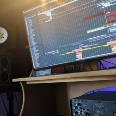 Studio setup at Freakyleaf Studios